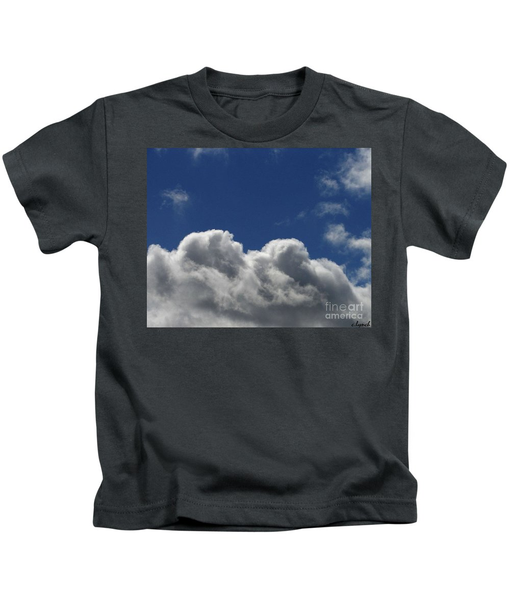 Clouds Kids T-Shirt featuring the photograph Fluffy Clouds 1 by Carol Lynch