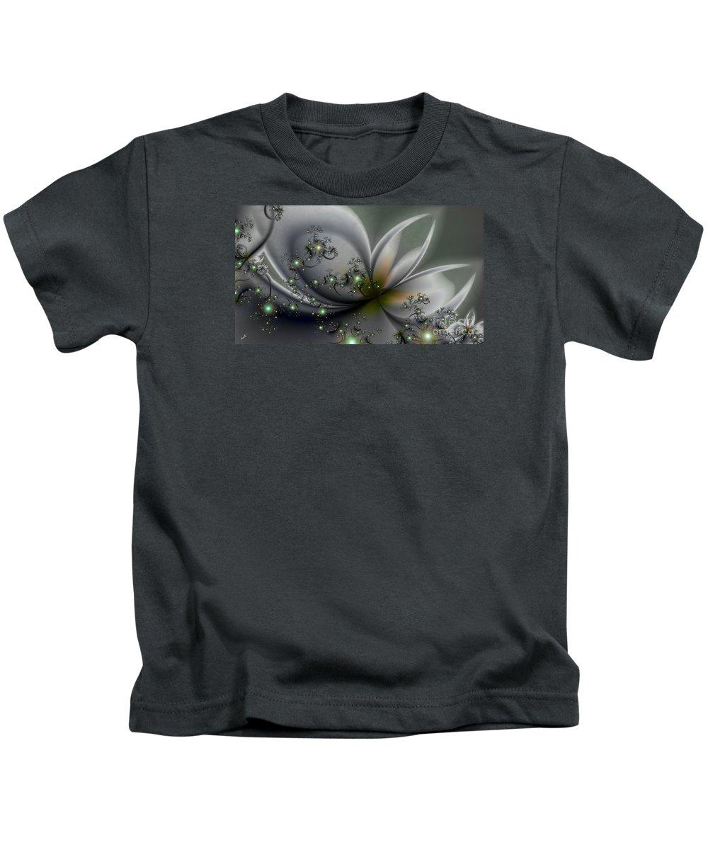 Flutterby Kids T-Shirt featuring the digital art Flutterby by Kimberly Hansen