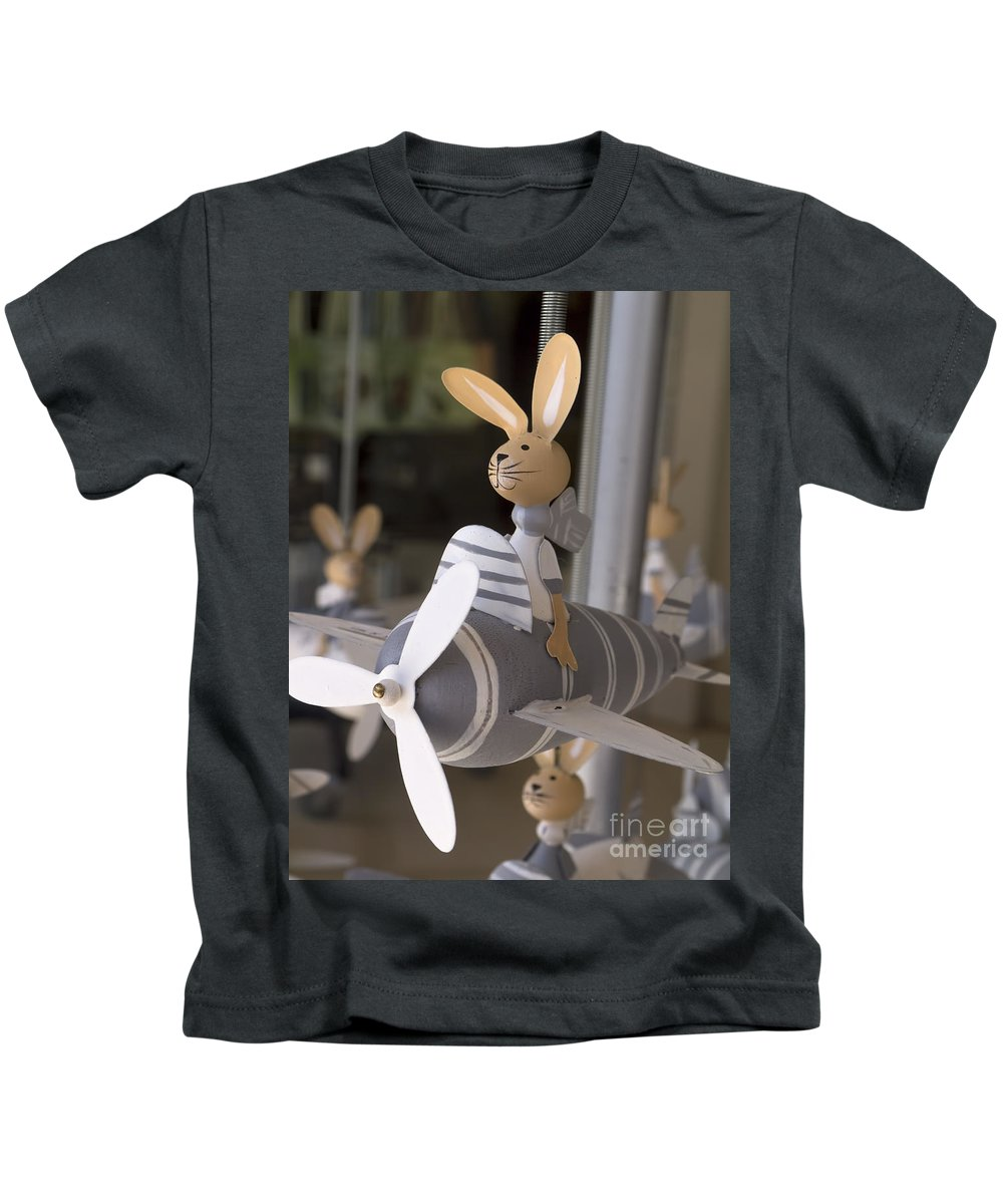 Rabbits Kids T-Shirt featuring the photograph Flying High by Gillian Singleton