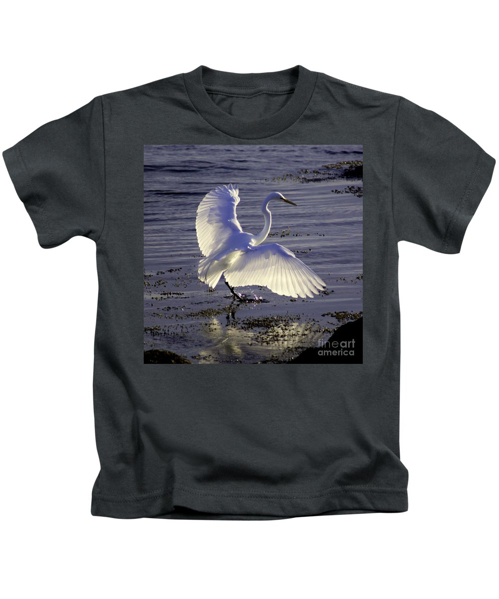 Animal Kids T-Shirt featuring the photograph Flying In V1 by Joe Geraci