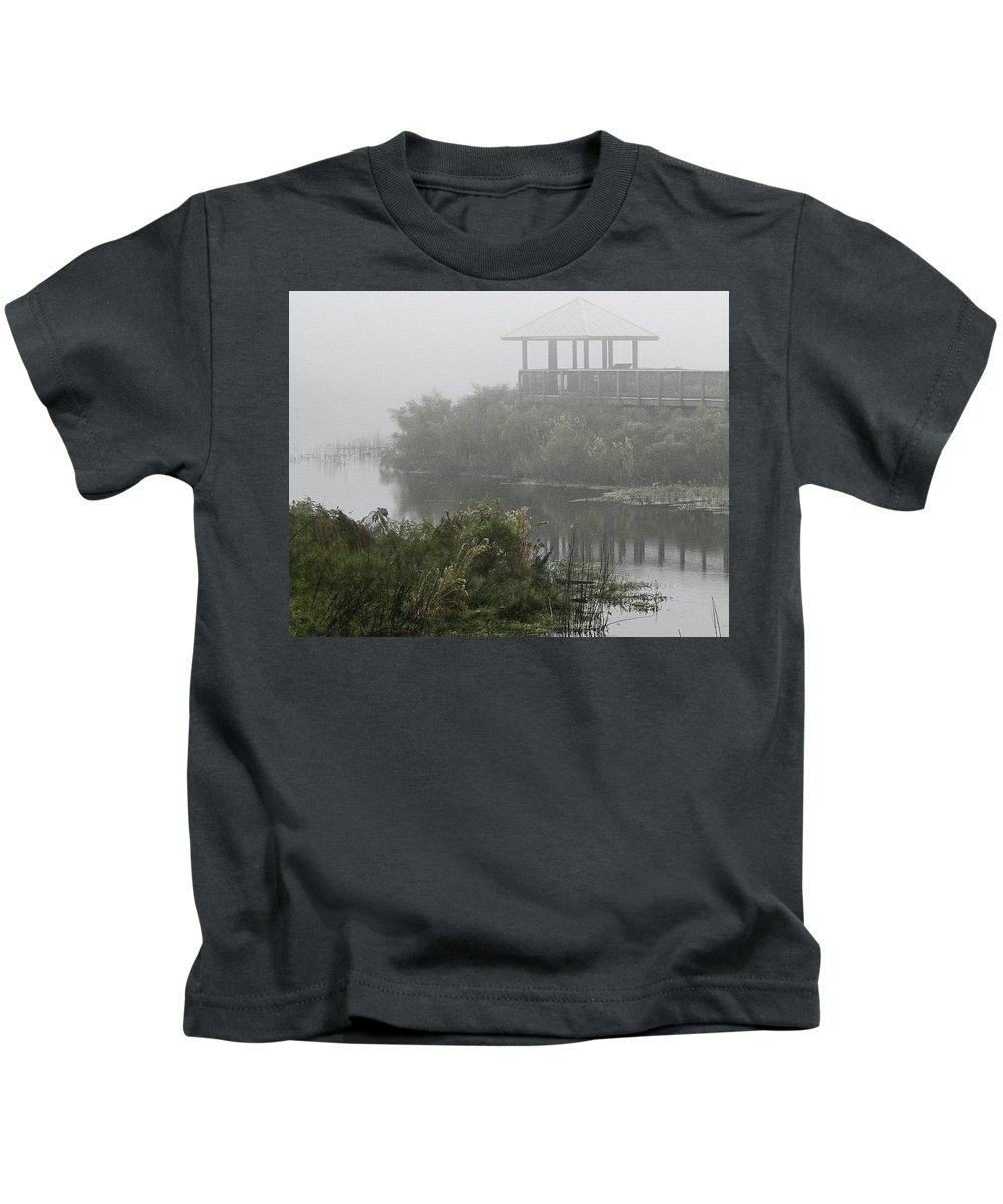 Fog Kids T-Shirt featuring the photograph Fog On The Prairie by James Ekstrom