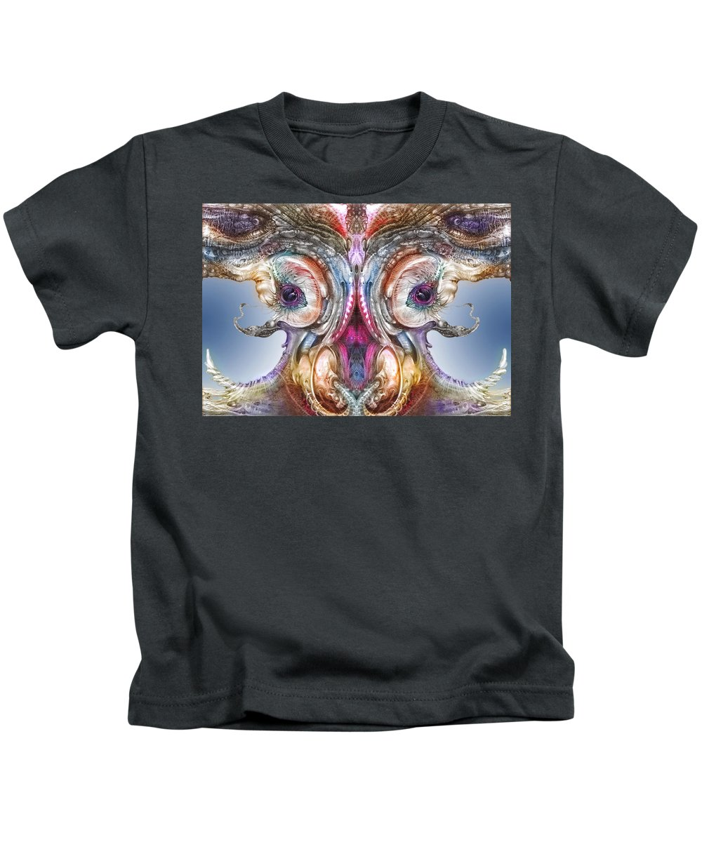 Otto Rapp Kids T-Shirt featuring the digital art Fomorii Incubator Remix by Otto Rapp