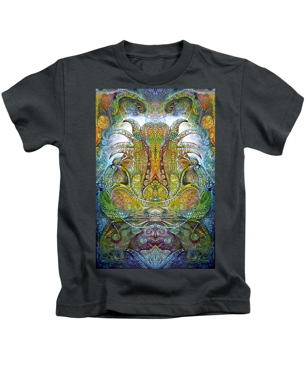 Kids T-Shirt featuring the digital art Fomorii Throne by Otto Rapp