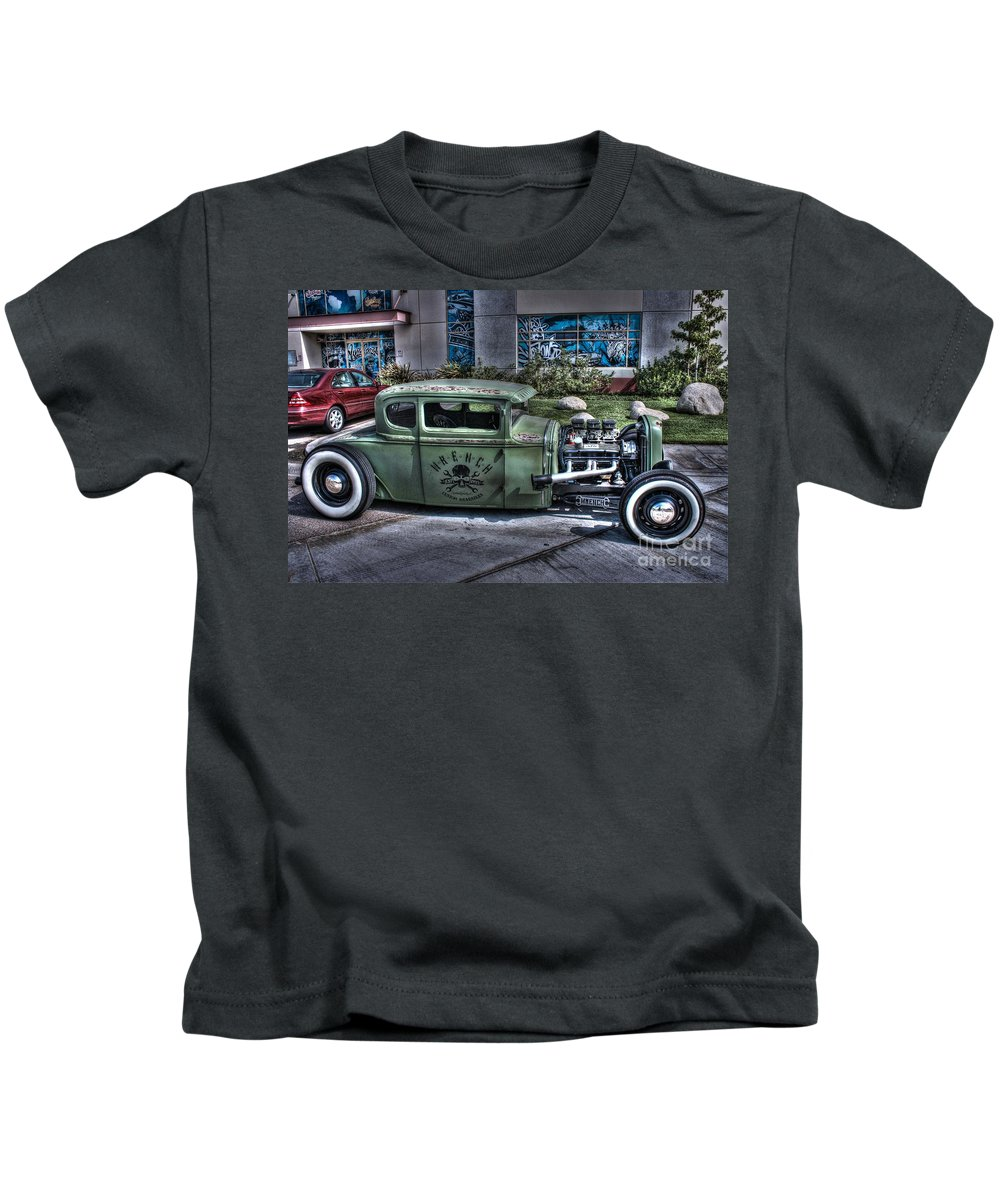 1931 Ford Model A Coupe Kids T-Shirt featuring the photograph Ford Hot Rod by Tommy Anderson