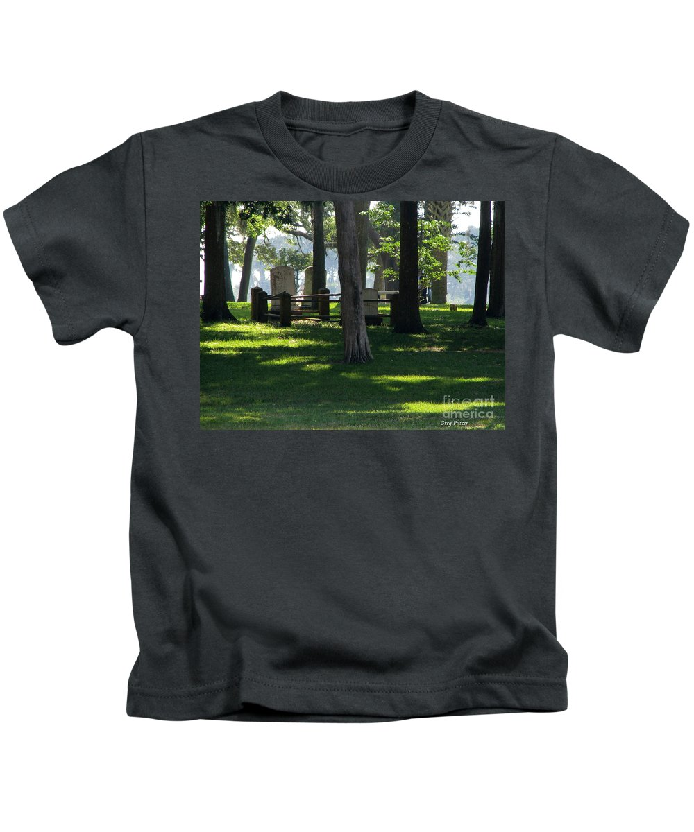 Patzer Kids T-Shirt featuring the photograph Fore Fathers by Greg Patzer