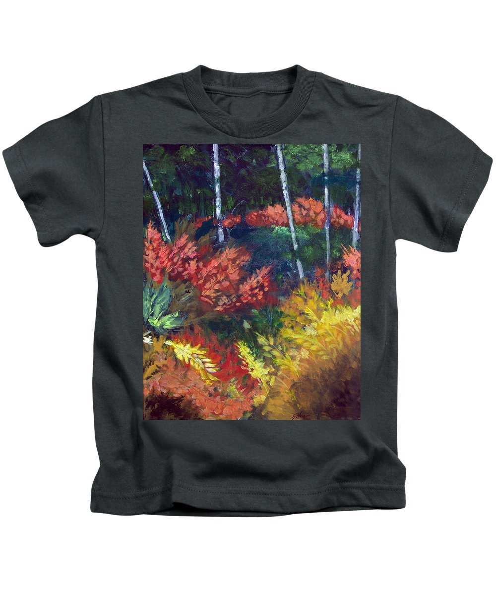 Forest Kids T-Shirt featuring the painting Forest Glade by Robert Gross