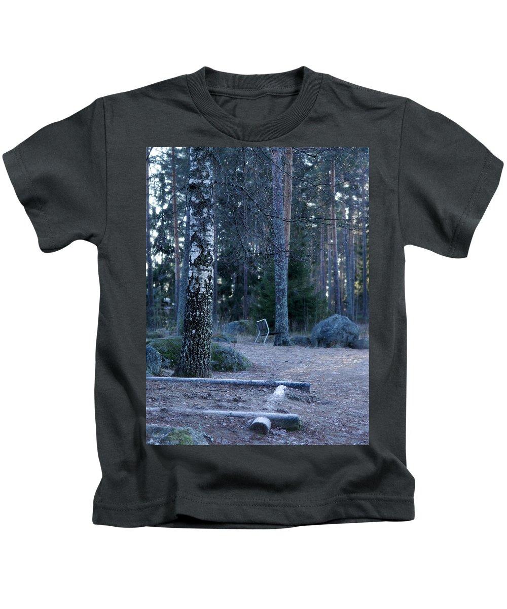 Lehto Kids T-Shirt featuring the photograph Forgotten Playground by Jouko Lehto