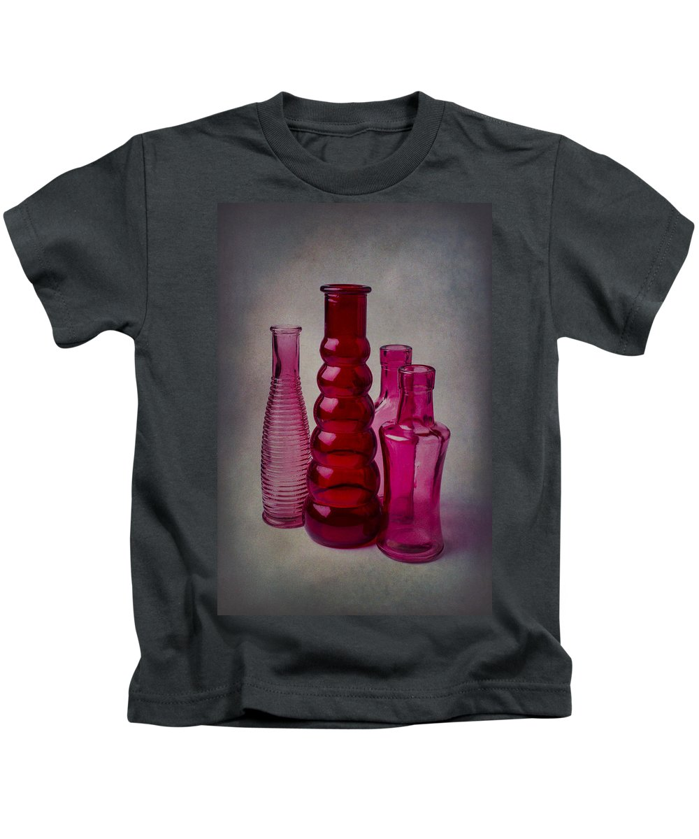 Four Kids T-Shirt featuring the photograph Four Bottles by Garry Gay