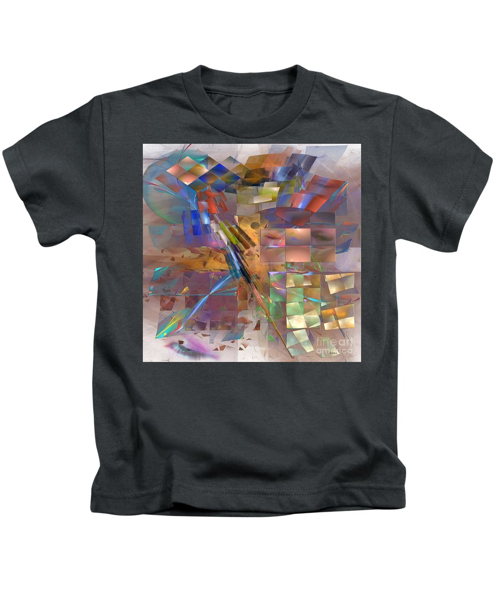 Eyes Kids T-Shirt featuring the digital art Four Eyes - Square Version by John Beck