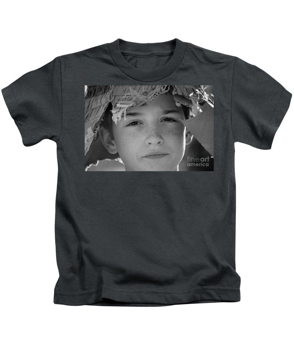 Boy Kids T-Shirt featuring the photograph Freckles by Anjanette Douglas