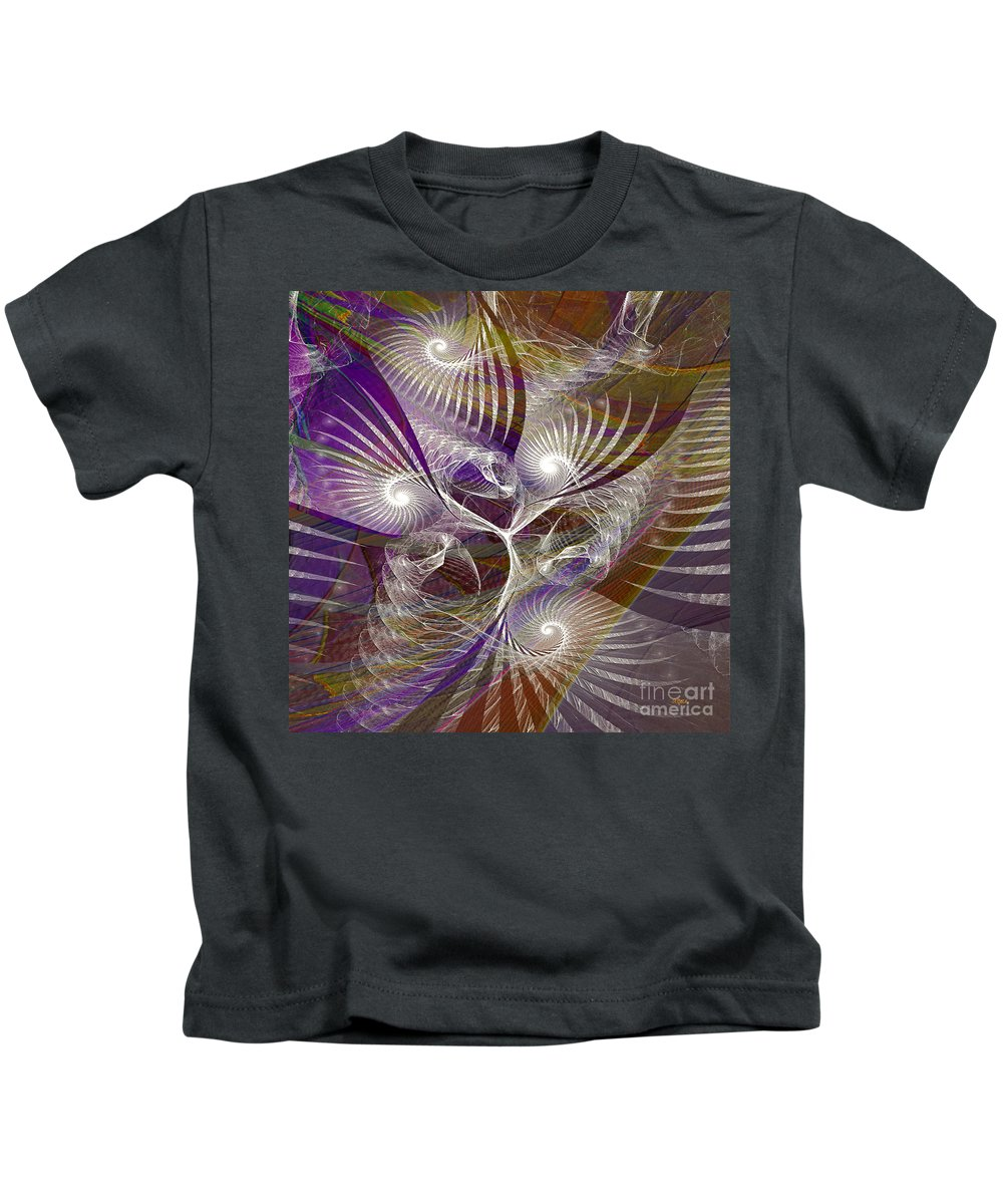 Frost Spirit Kids T-Shirt featuring the digital art Frost Spirit - Square Version by John Beck