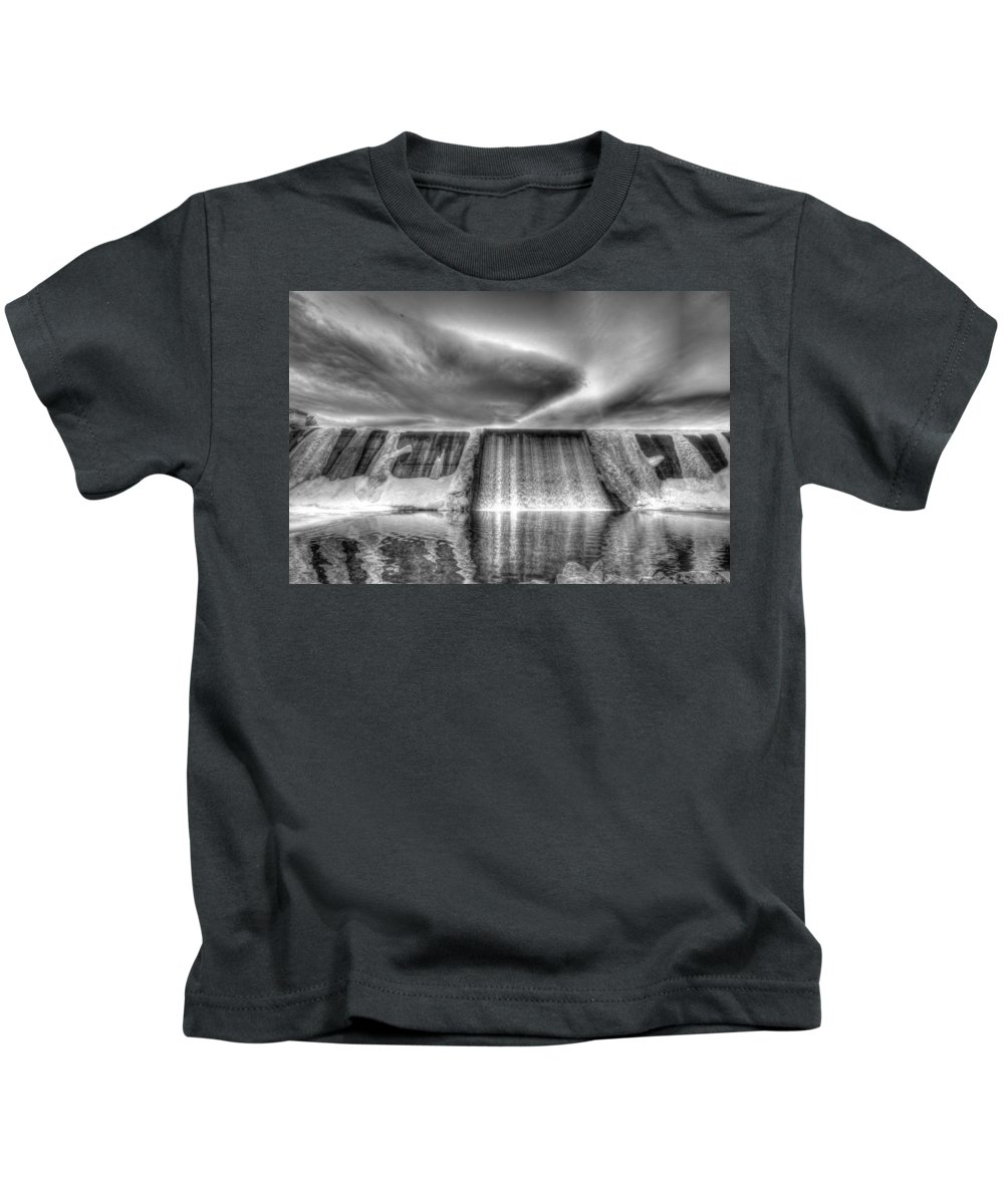 Dam Kids T-Shirt featuring the photograph Frozen Falls by Chance Chenoweth