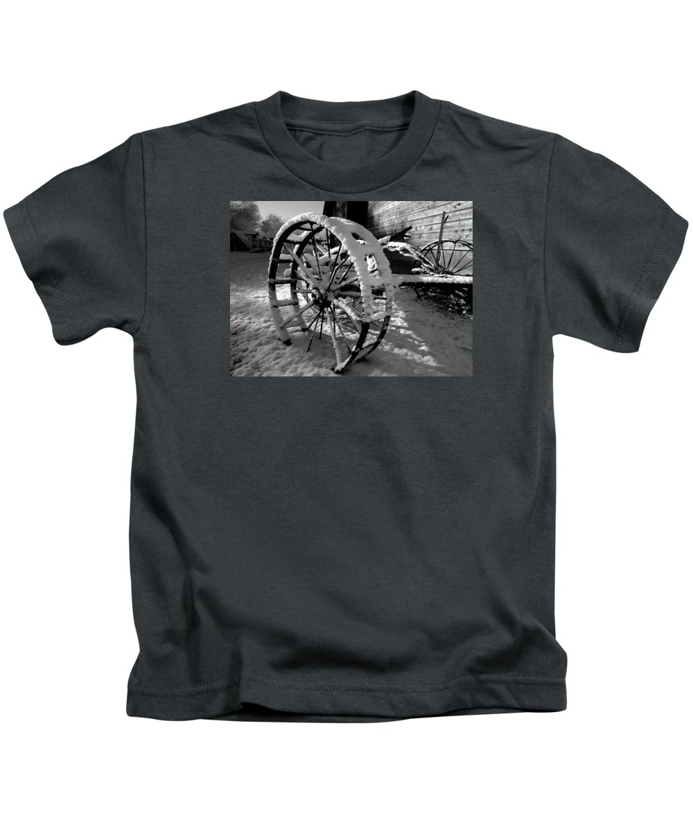 Black Kids T-Shirt featuring the photograph Frozen In Time by Steven Milner