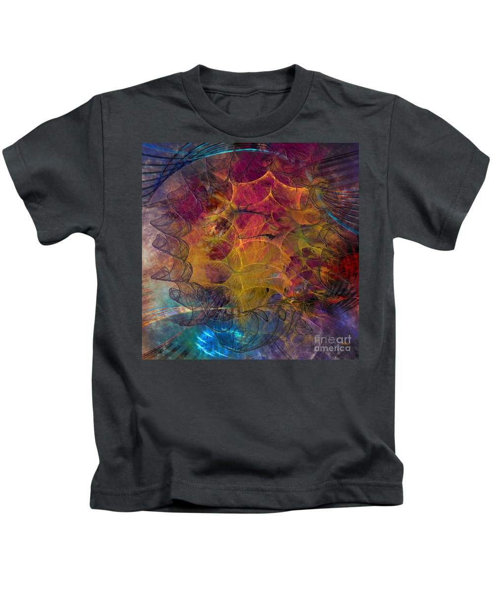Gala Sponsor Kids T-Shirt featuring the digital art Gala Sponsor - Square Version by John Beck