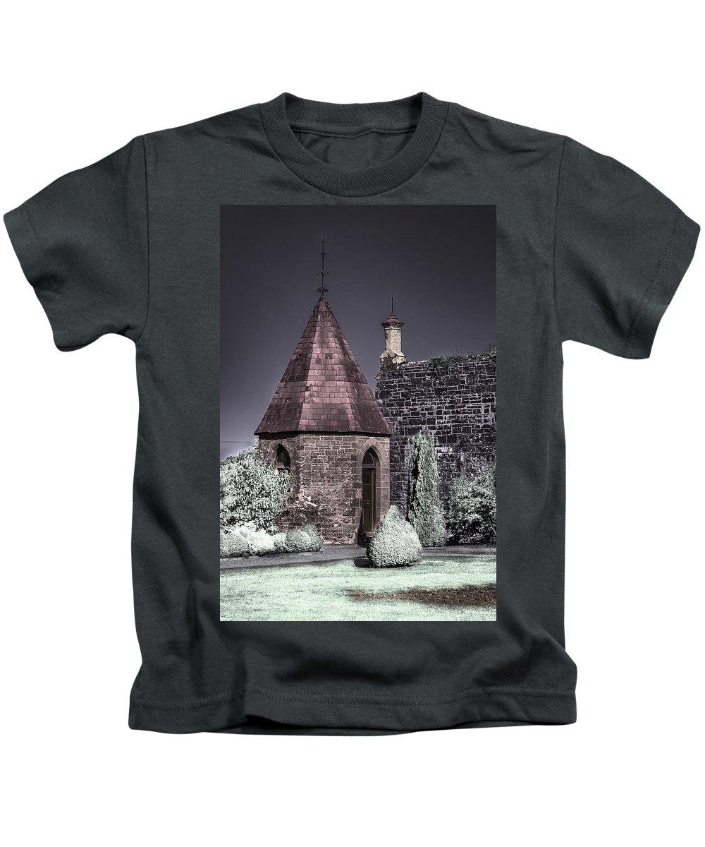 Garden Kids T-Shirt featuring the photograph Garden Outbuilding by Joseph Yvon Cote