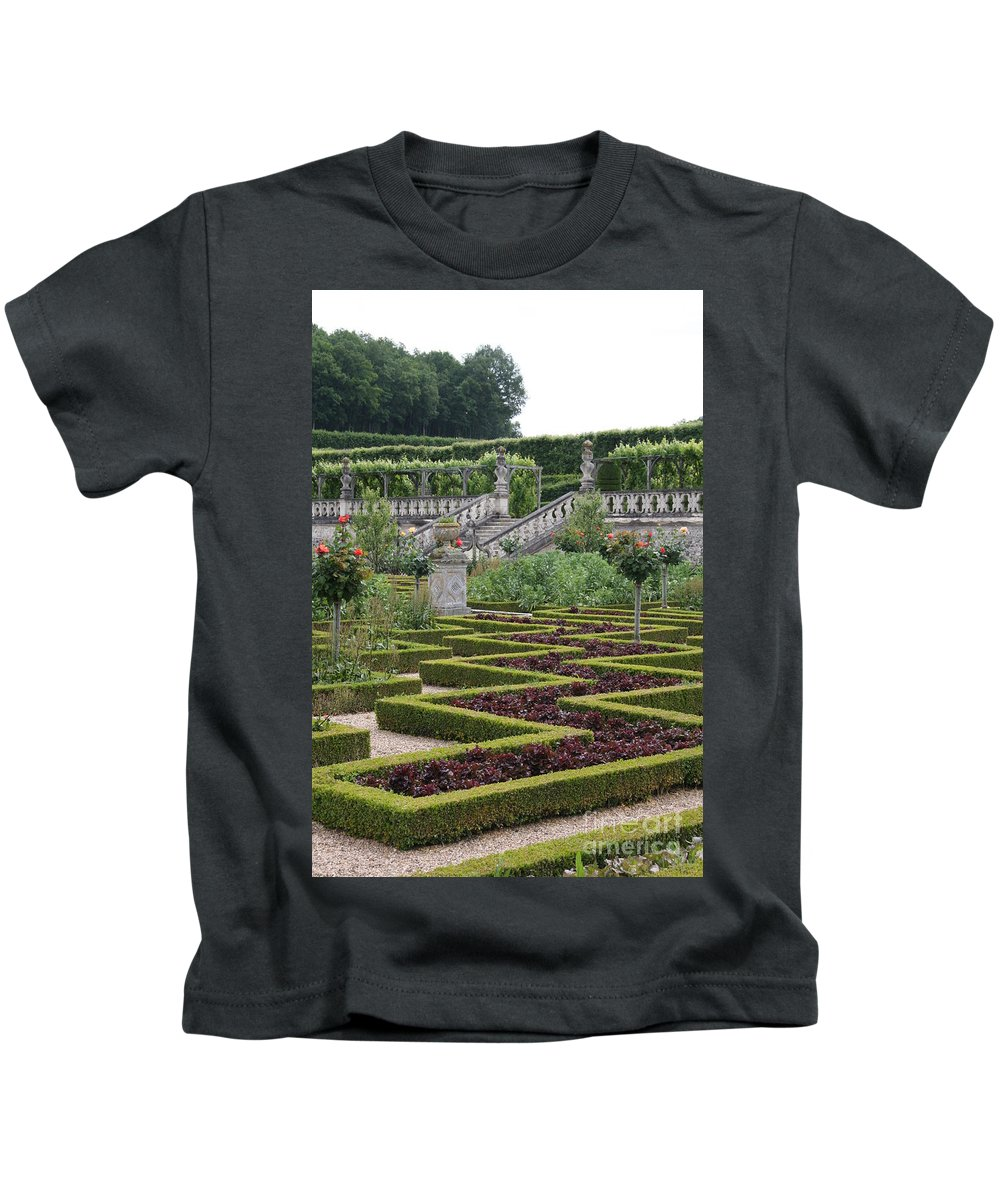 Cabbage Kids T-Shirt featuring the photograph Garden Symmetry Chateau Villandry by Christiane Schulze Art And Photography