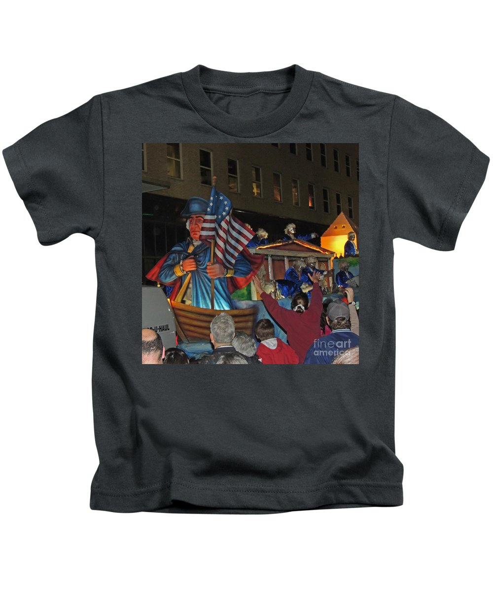 Mardi Gras Kids T-Shirt featuring the photograph George Washington by Marian Bell