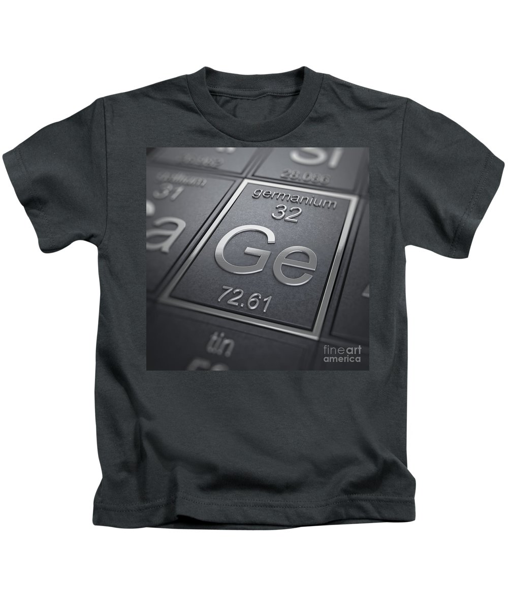 Periodic Table Kids T-Shirt featuring the photograph Germanium Chemical Element by Science Picture Co