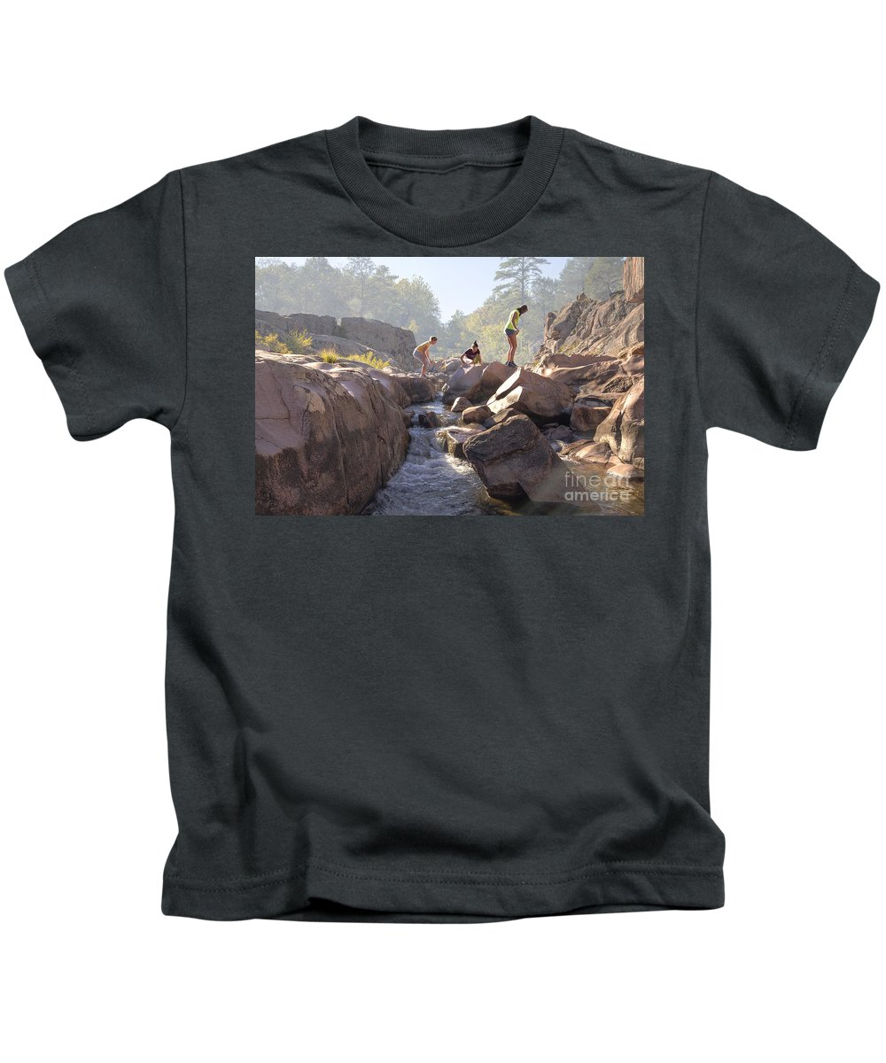 2012 Kids T-Shirt featuring the photograph Girls Just Want To Have Fun. by Larry Braun