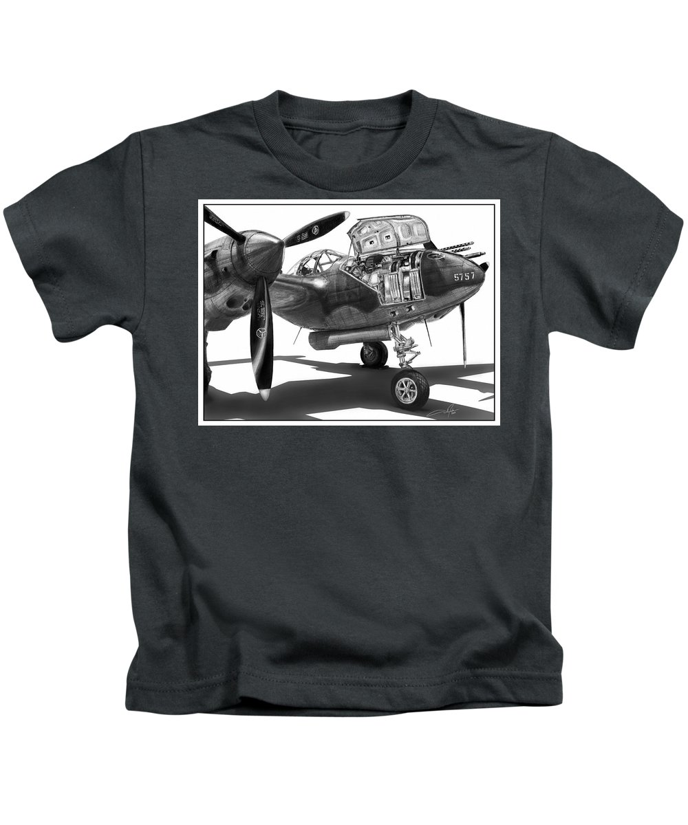 Glacier Girl Kids T-Shirt featuring the drawing Glacier Girl by Dale Jackson