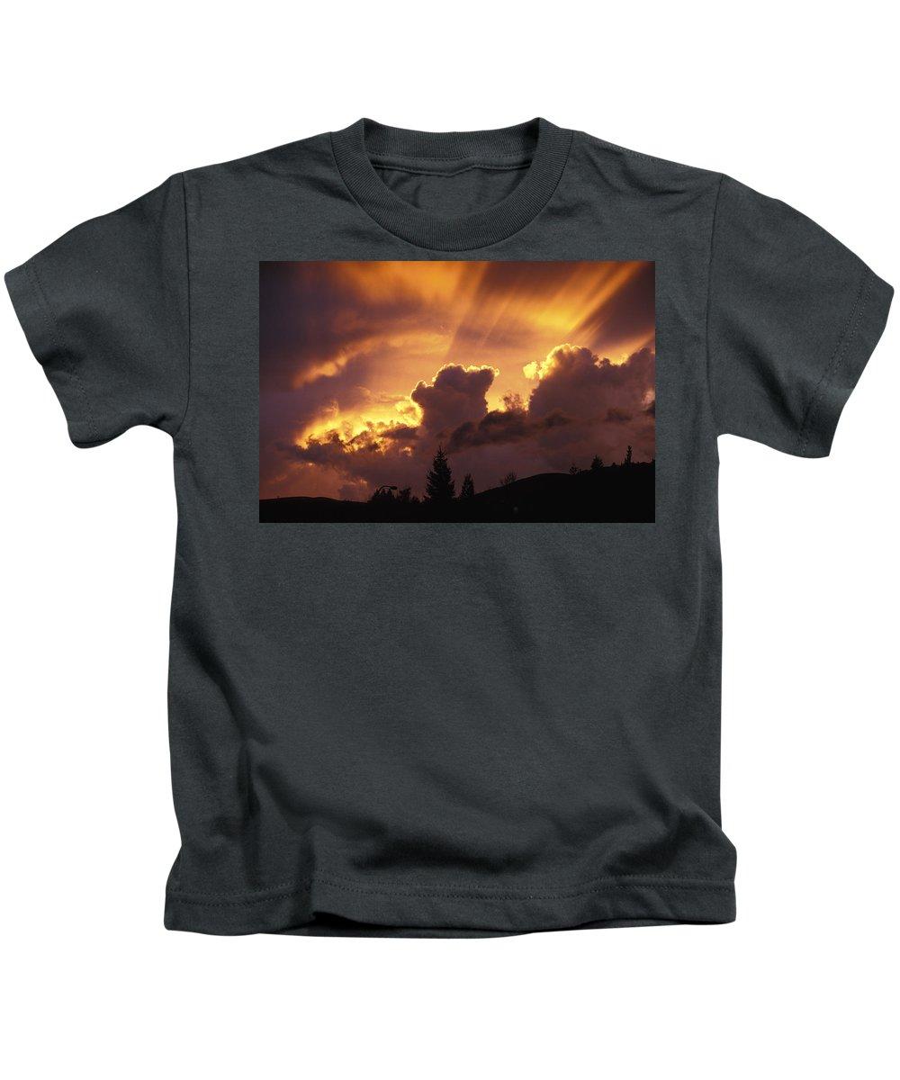 Sunset Kids T-Shirt featuring the photograph Glorious Sunset by John Clark