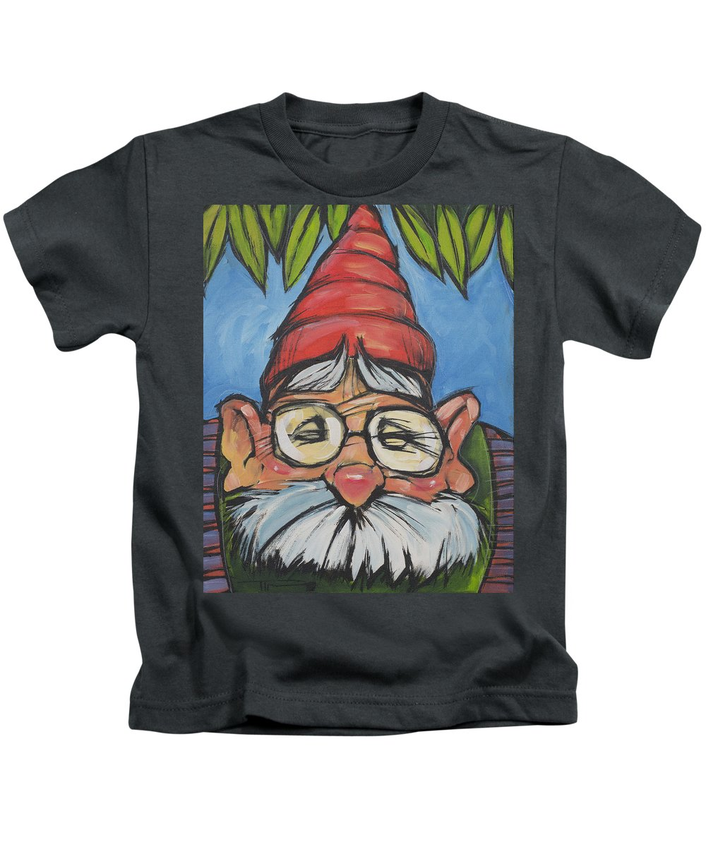 Gnome Kids T-Shirt featuring the painting Gnome 6 by Tim Nyberg