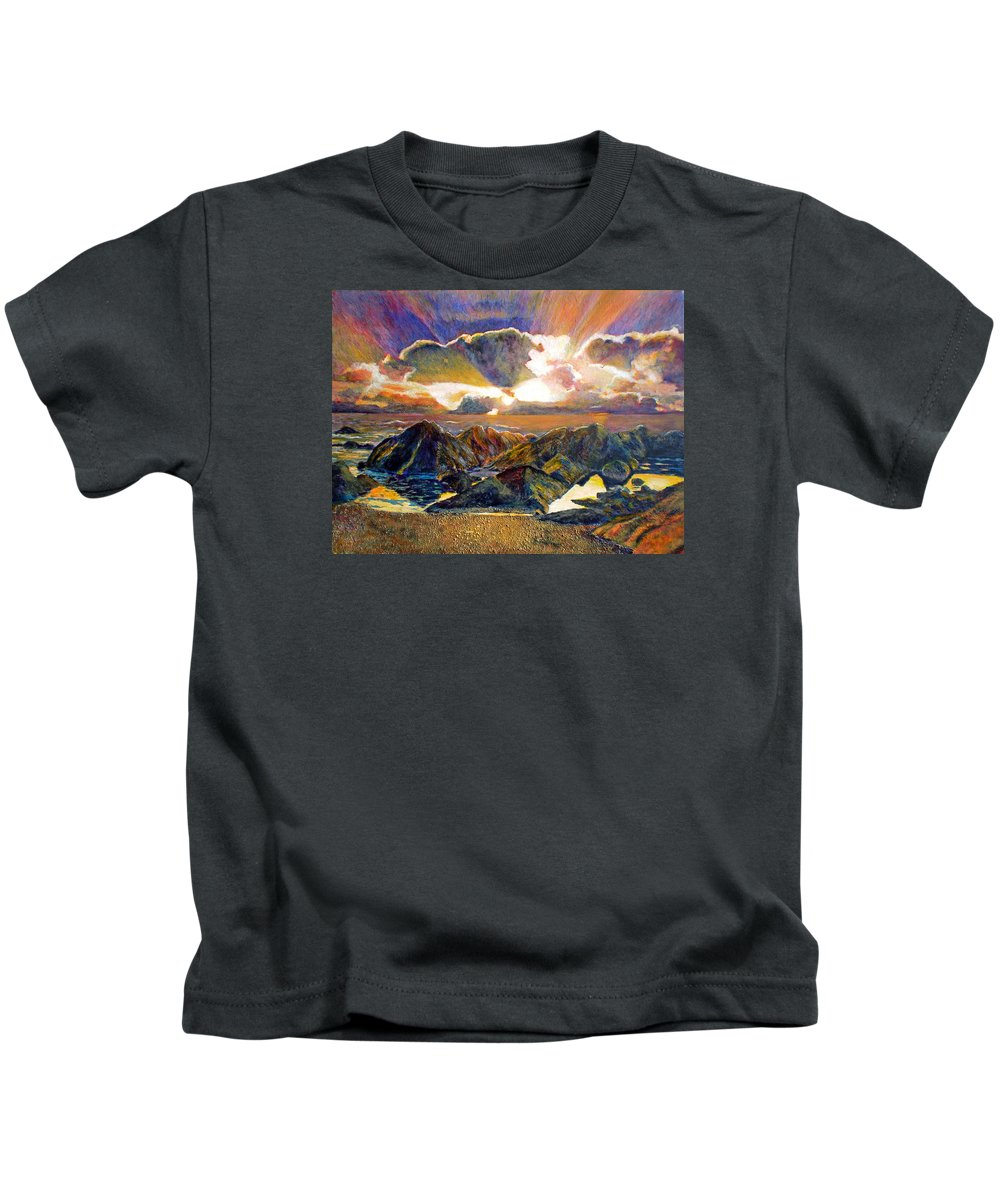 Seascape Kids T-Shirt featuring the painting God Speaking by Michael Durst
