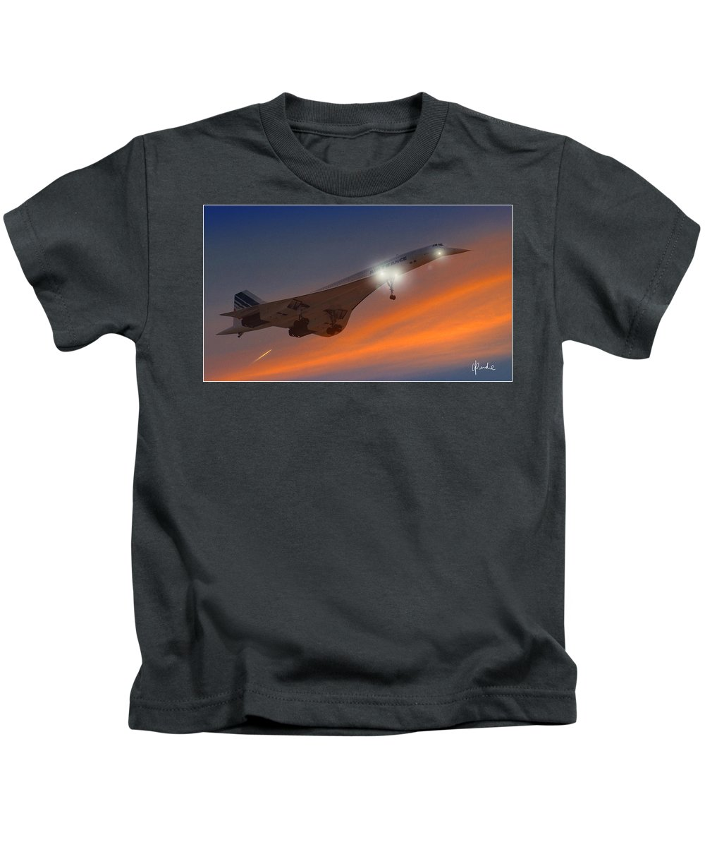 Concorde Kids T-Shirt featuring the photograph Graceful Glory by Craig Purdie