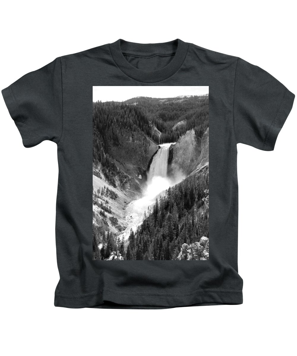 Lower Falls Kids T-Shirt featuring the photograph Grand Canyon Of The Yellowstone by Christiane Schulze Art And Photography