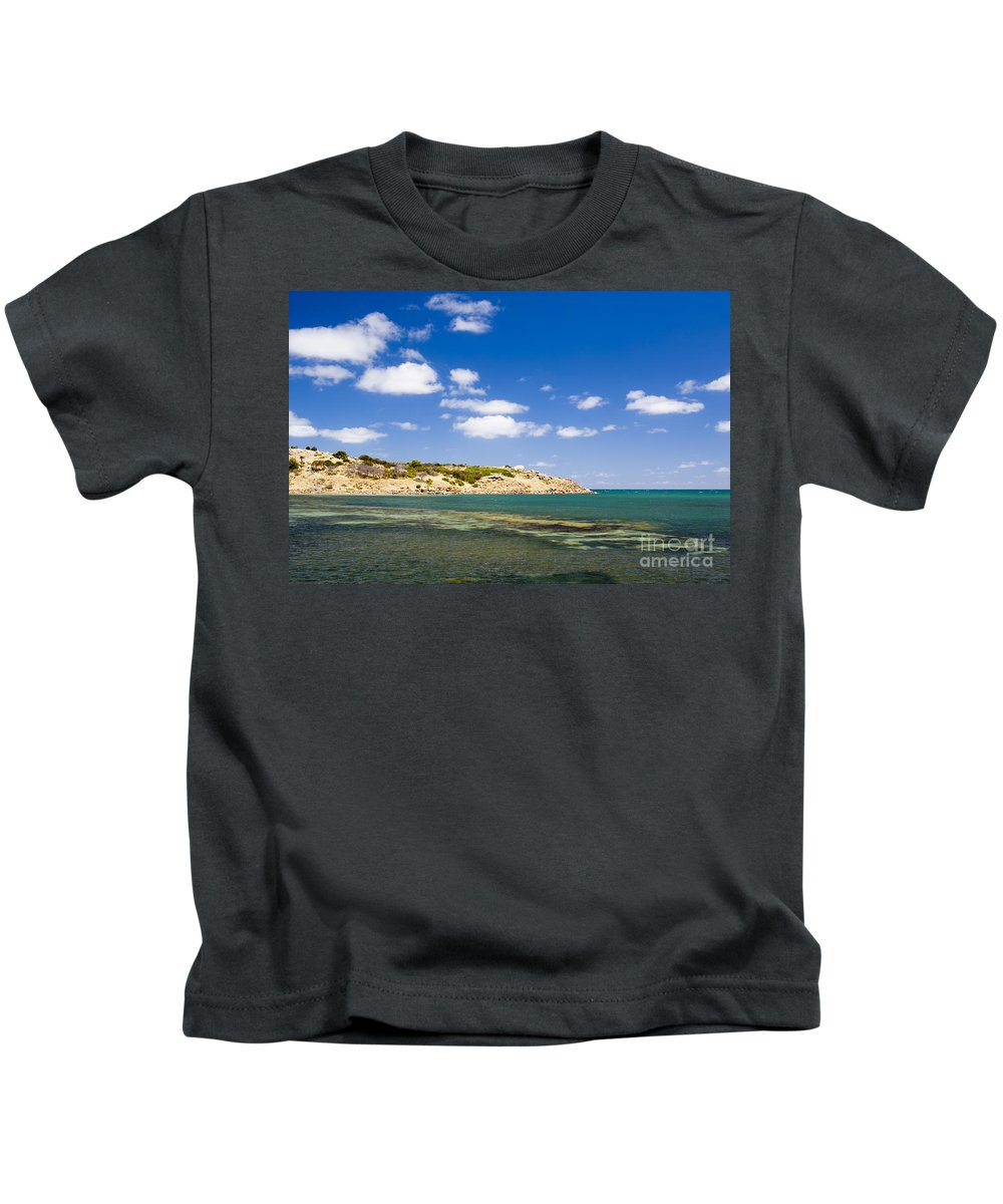 South Australia Kids T-Shirt featuring the photograph Granite Island South Australia by Tim Hester