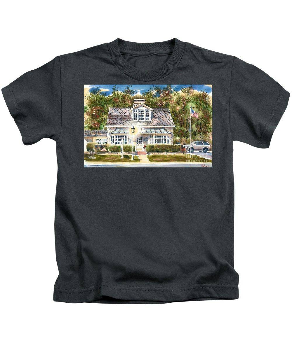 Greystone Inn Ii Kids T-Shirt featuring the painting Greystone Inn II by Kip DeVore