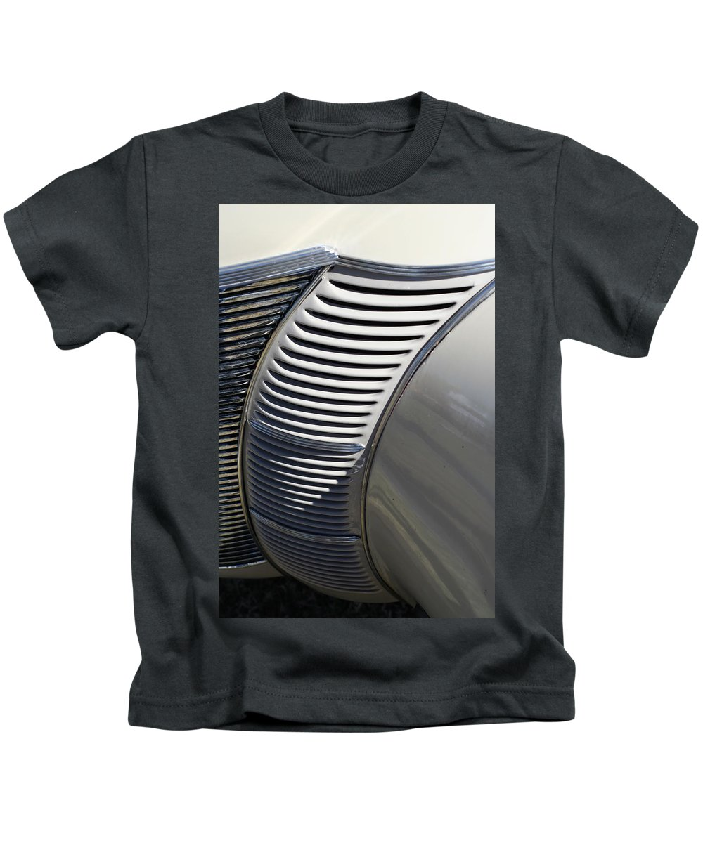 Automobile Kids T-Shirt featuring the photograph Grill Work by Joe Kozlowski