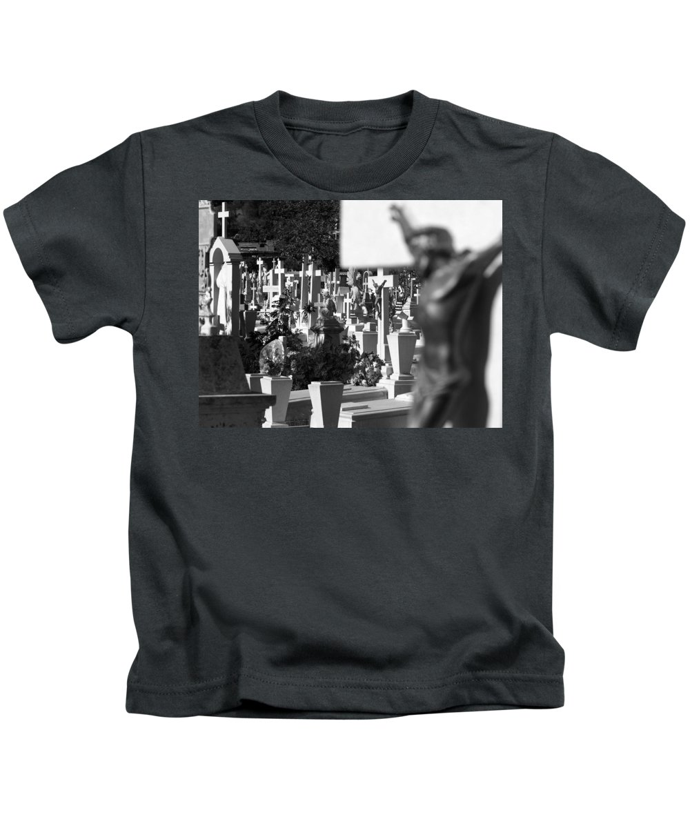 Black And White Kids T-Shirt featuring the photograph Guaymas Sonora 06 by Jeff Brunton