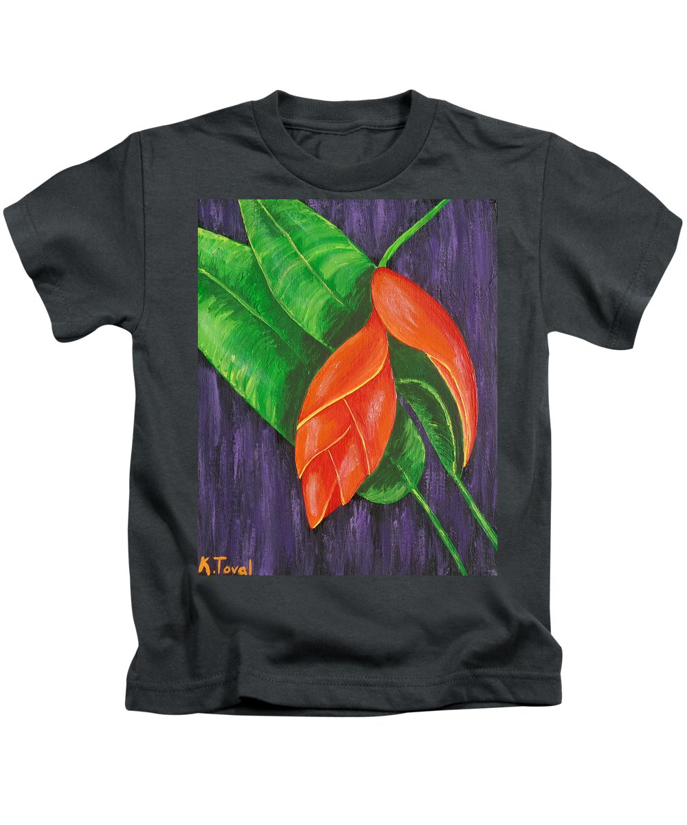 Flower Kids T-Shirt featuring the painting Hang Loose by Kathleen Toval