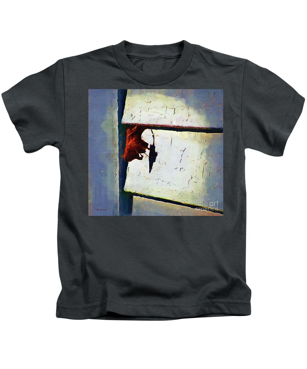 House Kids T-Shirt featuring the painting Hanging On by RC DeWinter