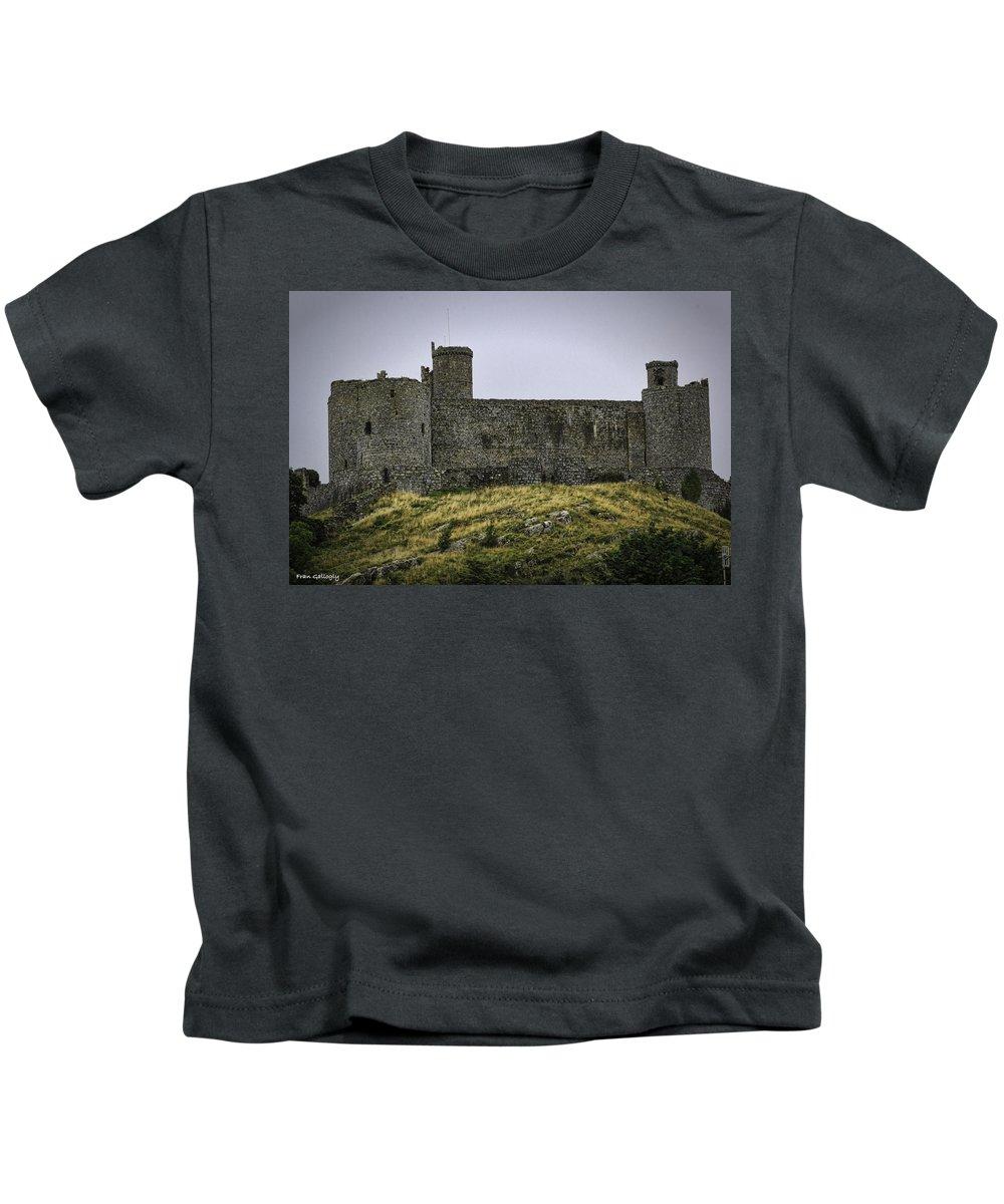Harlech Kids T-Shirt featuring the photograph Harlech Castle by Fran Gallogly