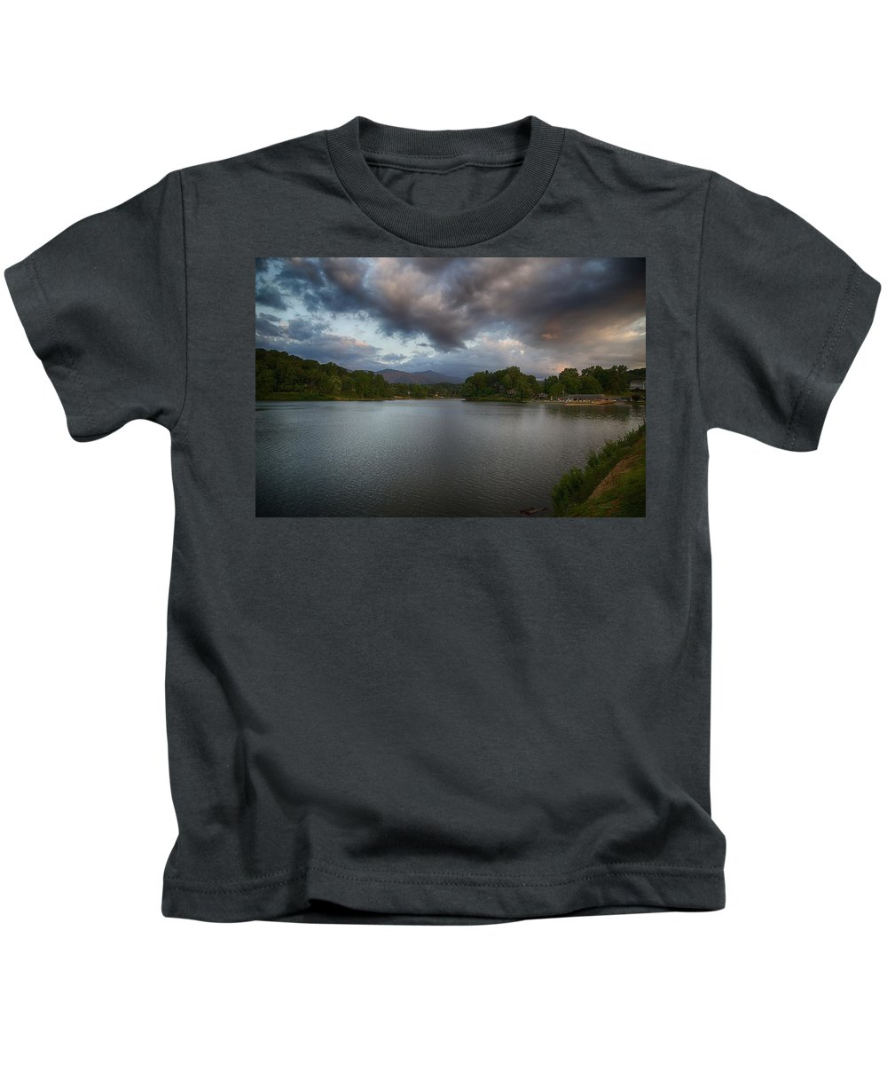 Heavenly Skies Kids T-Shirt featuring the photograph Heaven Takes A Look by Dennis Baswell