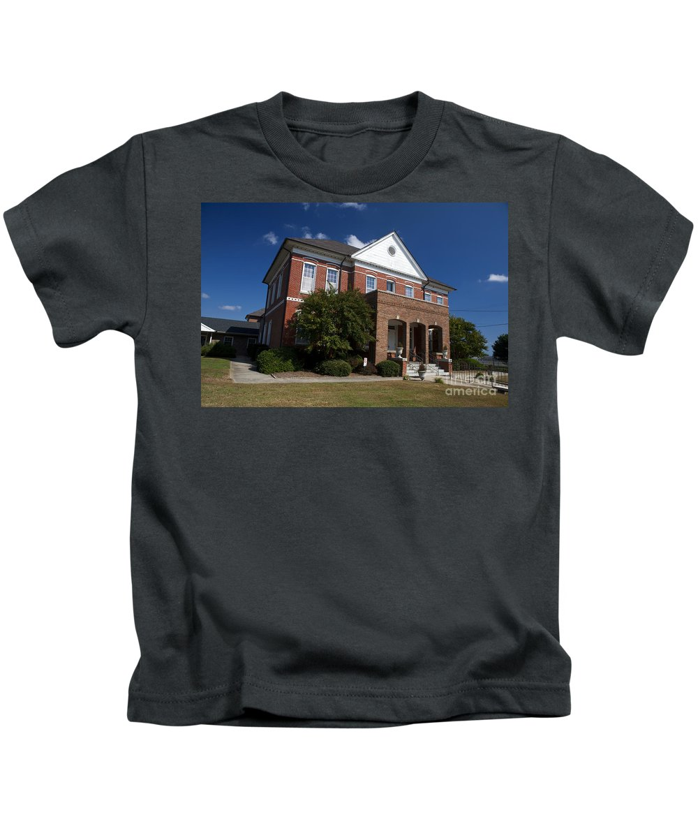 Historic Currituck Courthouse Kids T-Shirt featuring the photograph Historic Currituck Courthouse by Jason O Watson