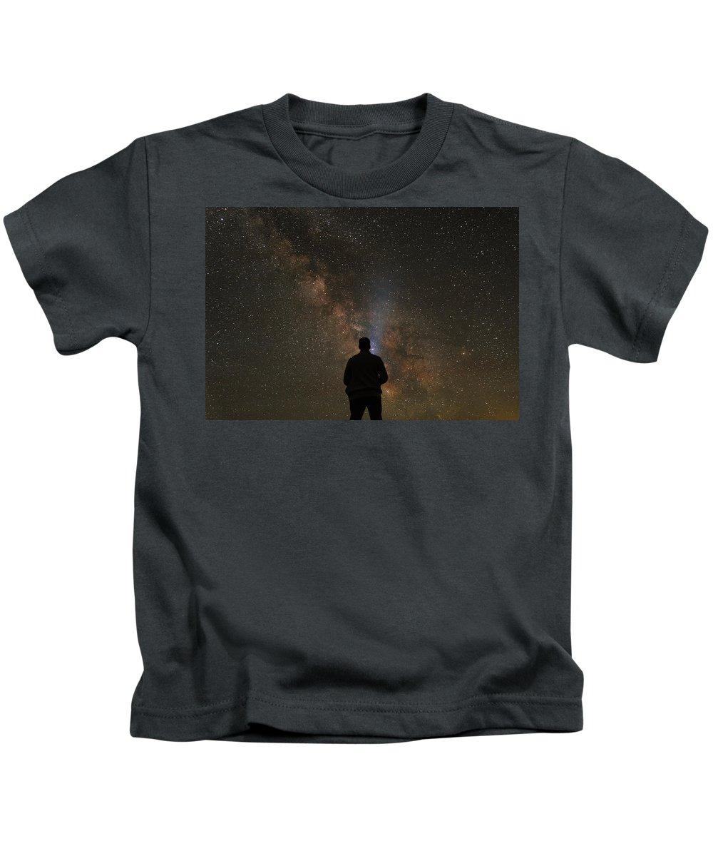 Grand Teton Kids T-Shirt featuring the photograph Hit The Lights by Kristopher Schoenleber