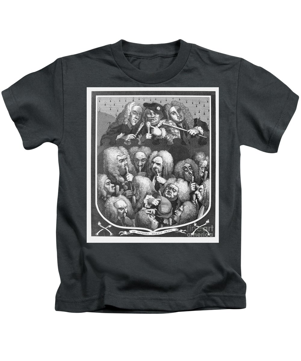 1736 Kids T-Shirt featuring the photograph Hogarth: Physicians, 1736 by Granger