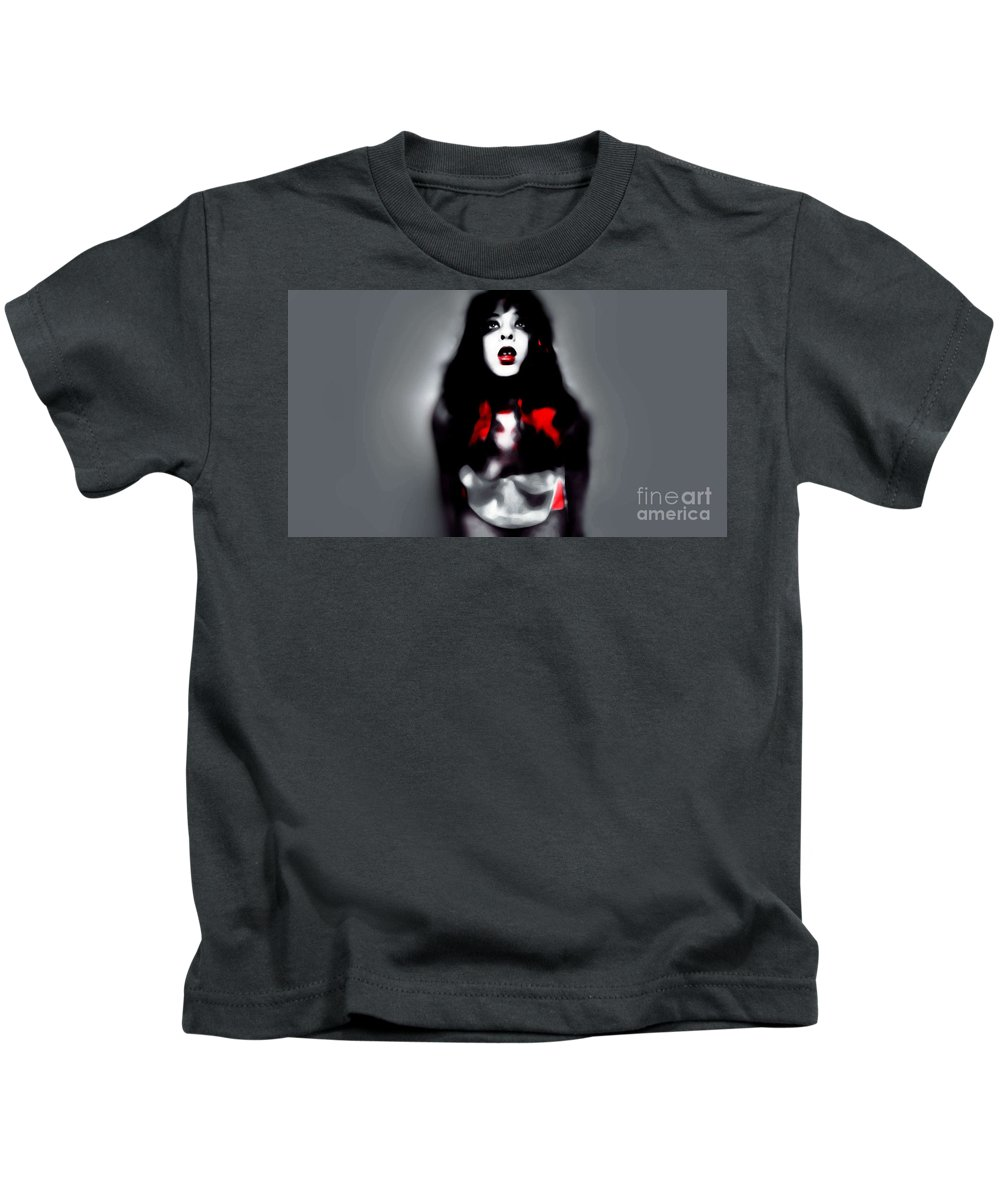 Black Kids T-Shirt featuring the photograph Holly Shivers by Jessica Shelton