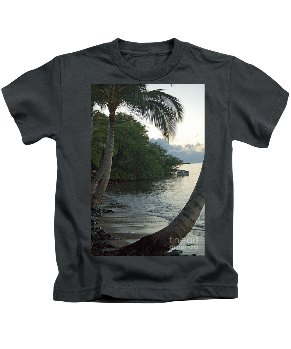 Sand Kids T-Shirt featuring the photograph Hotel Molokai Beach by Terry Holliday