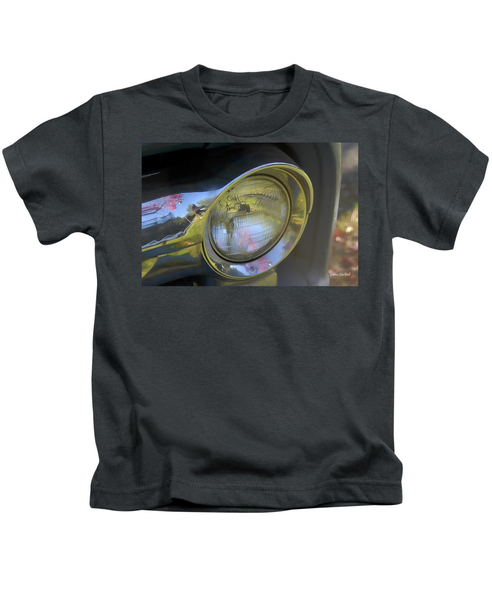 Old Car Kids T-Shirt featuring the photograph I See You by Donna Blackhall