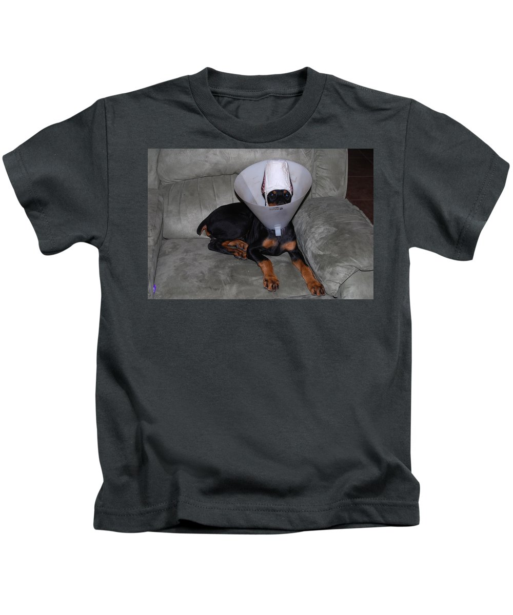 Really?how Do I Eat In This Thing? Dog Kids T-Shirt featuring the photograph I Still See You by Robert Floyd