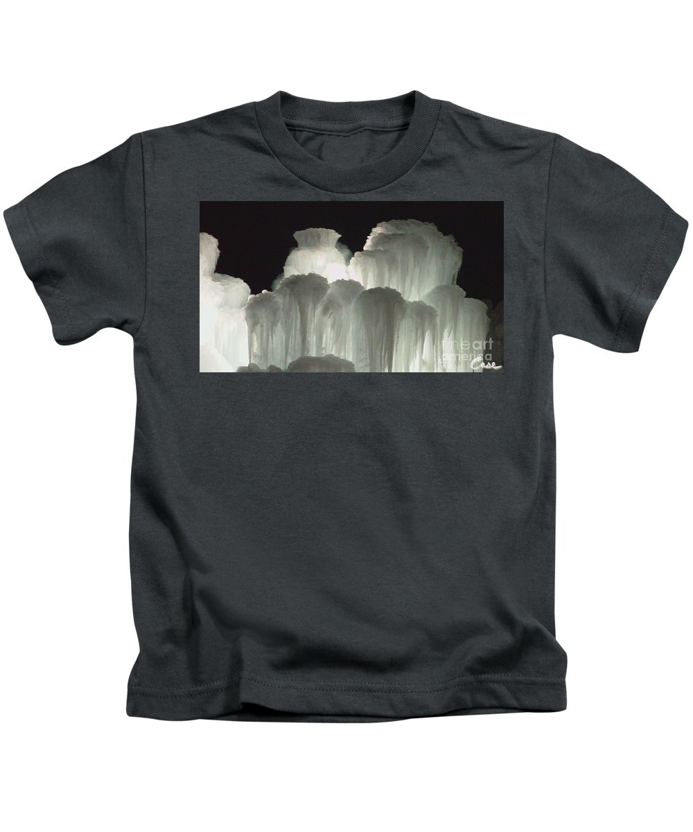 Night Kids T-Shirt featuring the photograph Ice Flow 4 by Feile Case