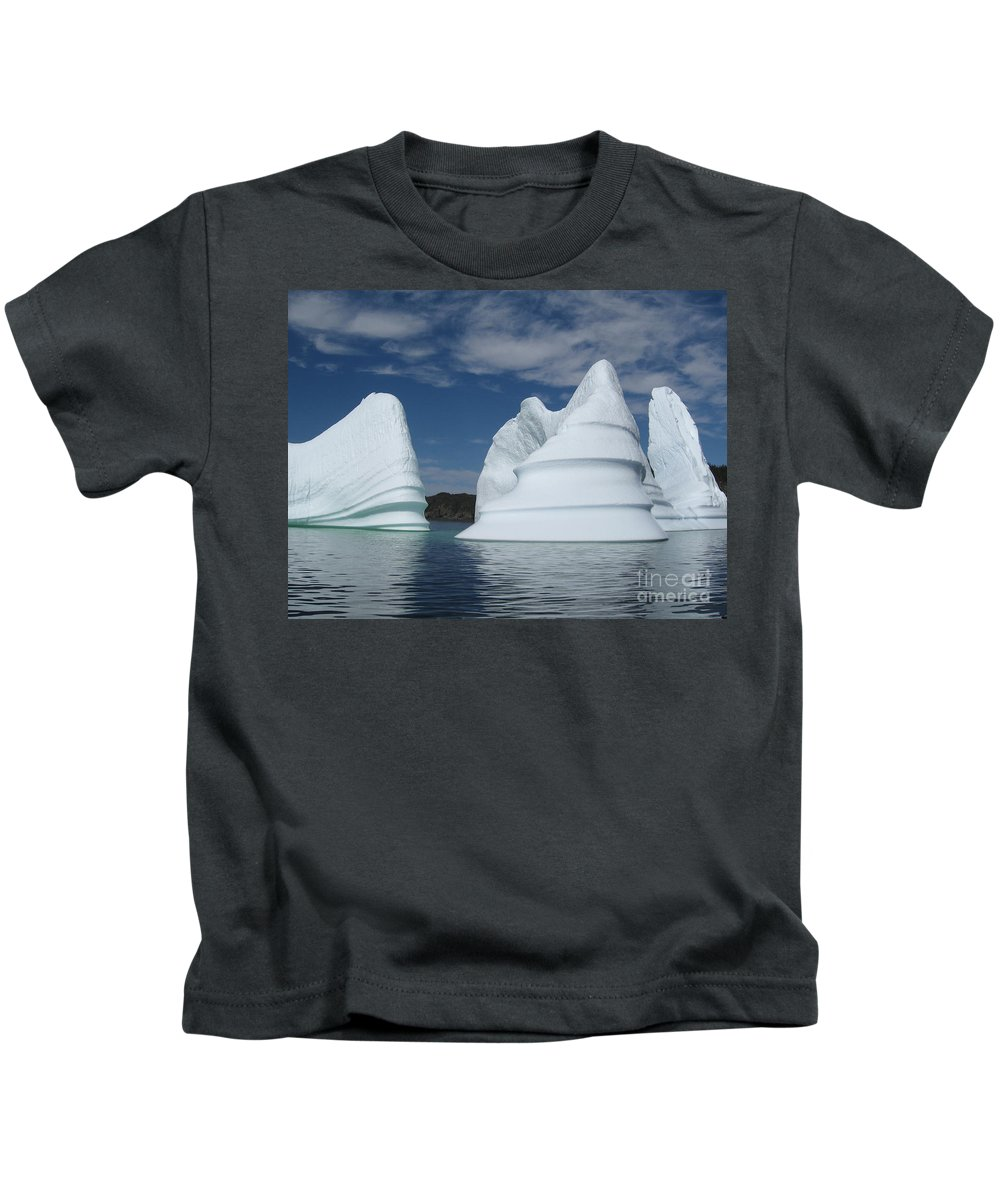 Iceberg Newfoundland Kids T-Shirt featuring the photograph Icebergs by Seon-Jeong Kim