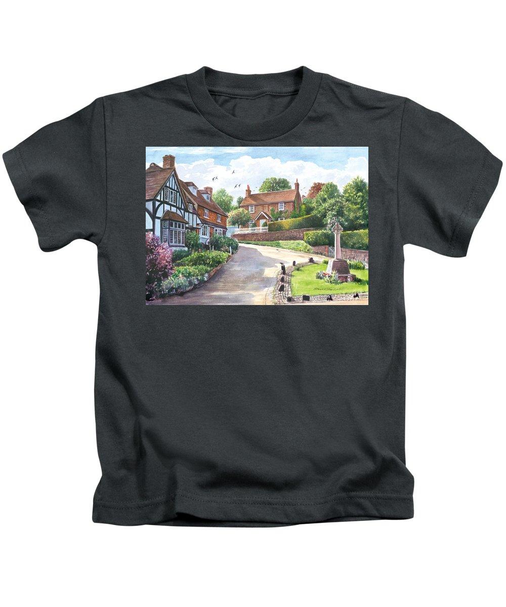 Steve Crisp Kids T-Shirt featuring the photograph Ightam Village by Steve Crisp