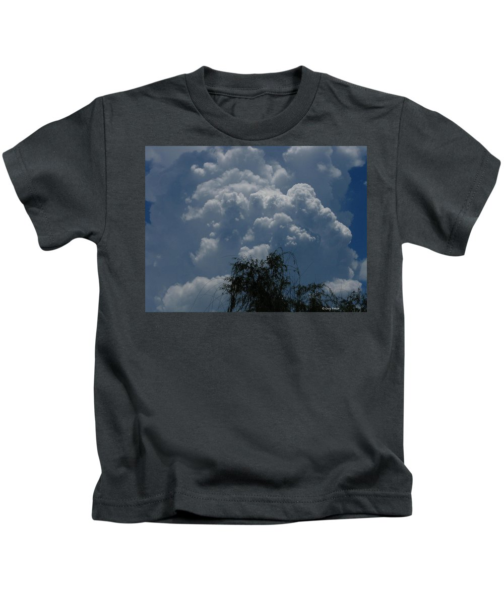 Patzer Kids T-Shirt featuring the photograph I'm Thinking Rain by Greg Patzer
