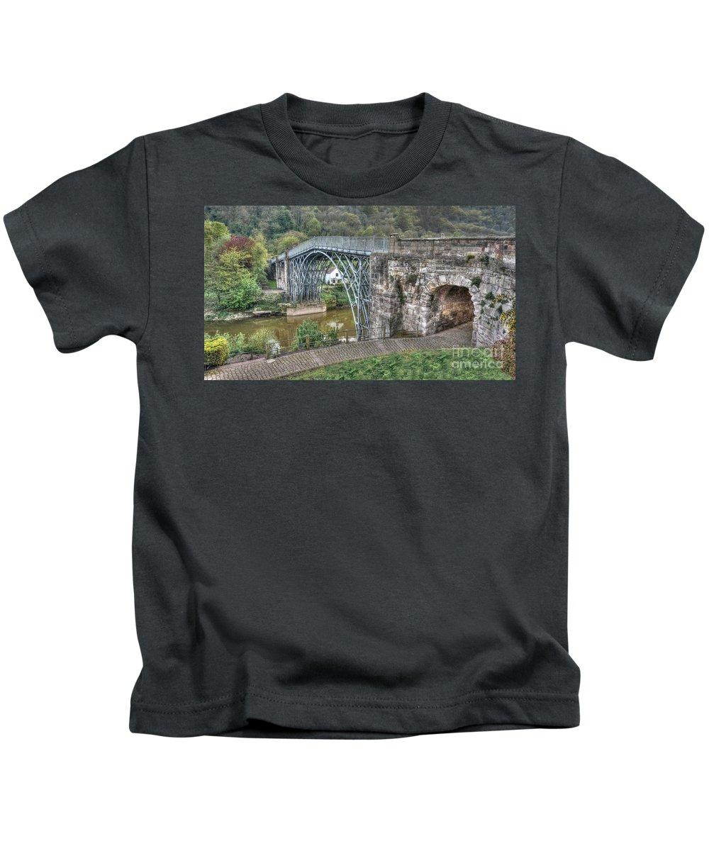 Ironbridge Kids T-Shirt featuring the photograph Iron Bridge by Mickey At Rawshutterbug