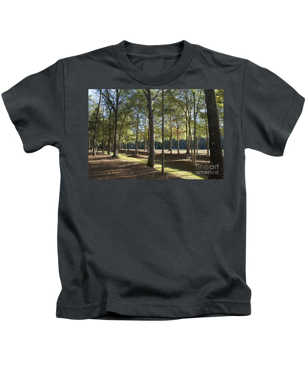 Island Fort Road Kids T-Shirt featuring the photograph Island Fort Road Ninety Six National Historic Site by Jason O Watson